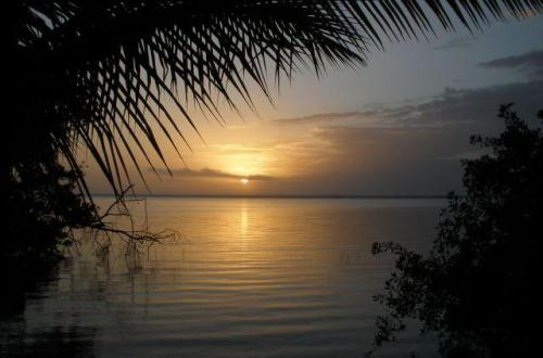 Sunrise, Laguna Bacalar - near archaeological zone  © Susanna Starr